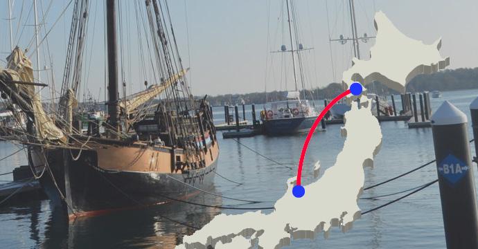 北前船の存在。